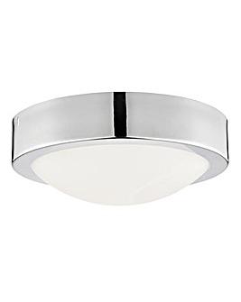 Bathroom Chrome Flush Marble Glass Light
