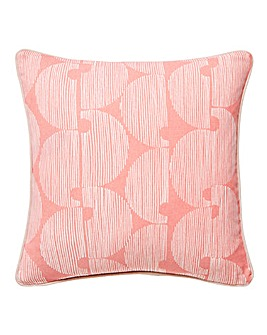 Blush Circle Marked Cushion