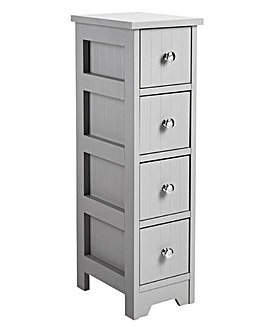 New England 4 Drawer Unit Grey