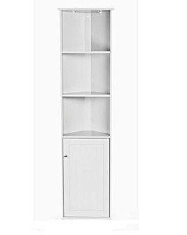 New England Corner Tall Cupboard