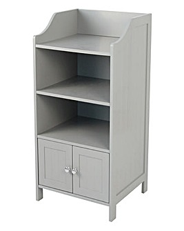 New England 3 Shelf and Door Unit Grey