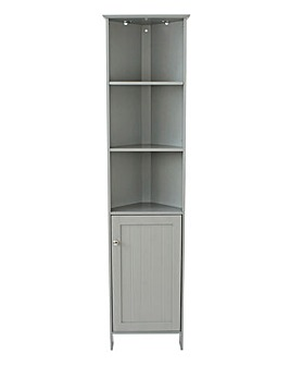 New England Corner Tall Cupboard Grey