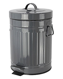 Retro Grey 5L Bin