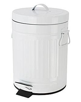 Retro White 5L Bin