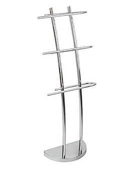 Curved Arm Towel Stand with 3 Rails