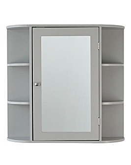 Derby Mirror Unit with Shelves Grey