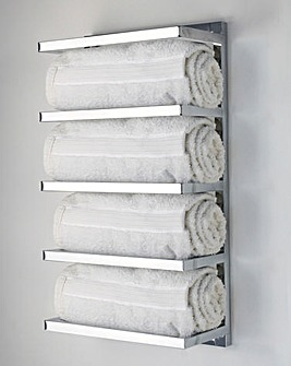 Chrome 5 Tier Wall Mounted Towel Rack