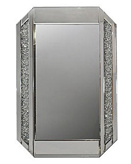 Glam Bevelled Mirror with Crystal Border