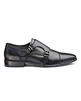 Brewer Premium Leather Monk Shoe Standard Fit