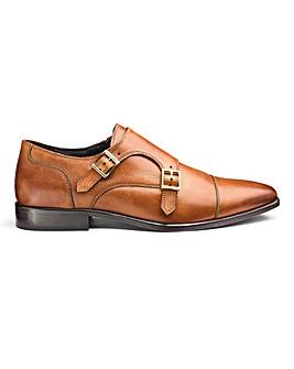 Jacamo Premium Leather Double Monk Shoes