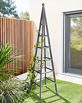 1.9 Metre Grey Wooden Obelisk