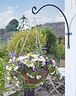 Artifical Petunia Hanging Basket
