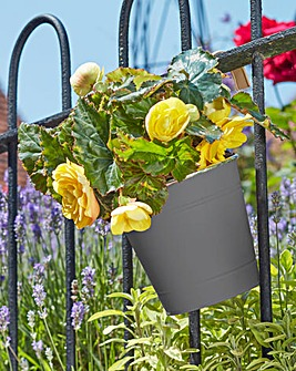 Fence & Balcony Hanging Pot Pack of 3