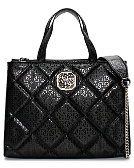 Guess Dilla Elite Quilted Repeat Logo Tote Bag