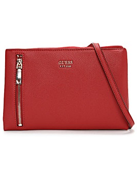 Guess Naya Double Zip Cross-Body Bag