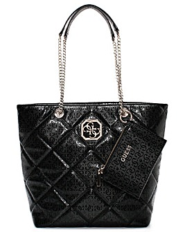 Guess Dilla Quilted Repeat Logo Carryall Bag