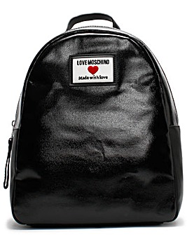 Love Moschino Coated Canvas Backpack