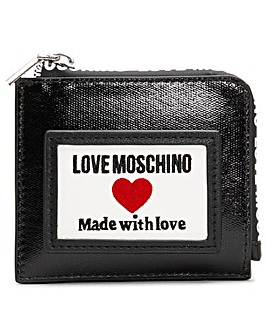 Love Moschino Coated Canvas Logo Purse