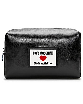 Love Moschino Coated Canvas Logo Pouch