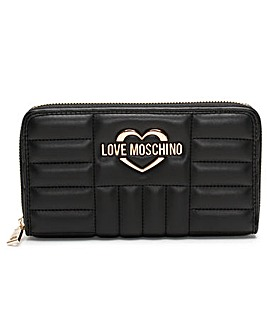 Love Moschino Stripe Quilt Purse