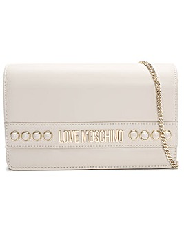 Love Moschino Flap Stud Shoulder Bag