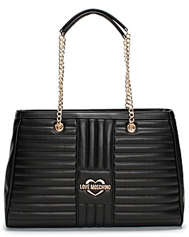 Love Moschino Stripe Quilt Shopper Bag