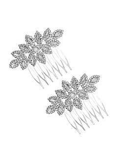 Mood Diamante Hair Combs- Pack of 2