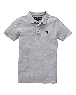 Lyle & Scott Boys Grey S/S Polo