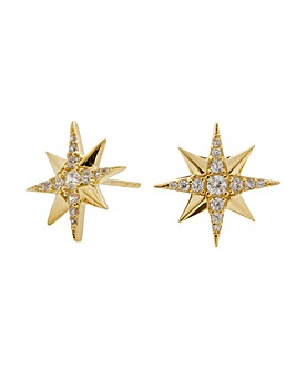 14ct Gold Plated Sterling Silver Star Earrings