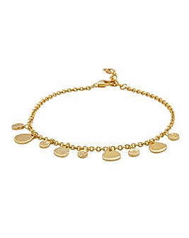 14ct Gold Plated Sterling Silver Charmed Bracelet