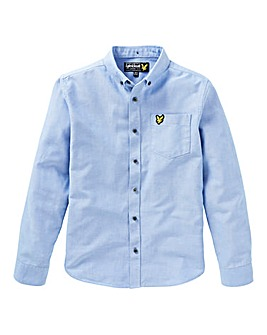 Lyle & Scott Boys Blue L/S Oxford Shirt