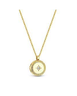 Simply Silver Locket Pendant Necklace