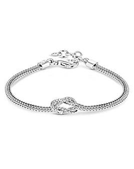 Simply Silver Fox Tail Bracelet