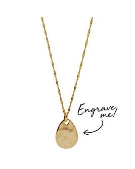 Simply Silver Pear Drop Pendant Necklace