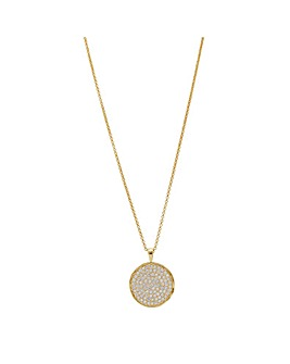 Simply Silver Round Disc Necklace
