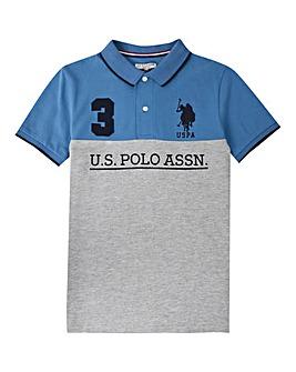 U.S. Polo Assn. Boys Colour Block Polo