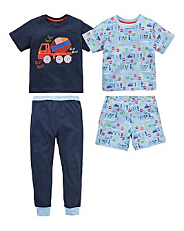 KD Boys Truck Pack of Two Pyjamas