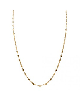 Simply Silver Diamond Cut Chain Necklace
