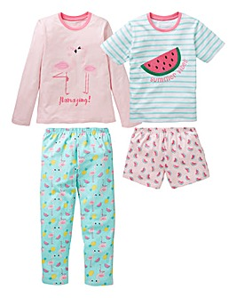 KD Older Girls Pack of Two Pyjamas