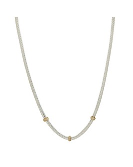 Simply Silver Mesh Allway Necklace