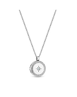 Simply Silver Detail Locket Necklace