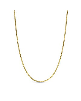 12ct Gold Sterling Silver 925 Polished Mini Twist Allway Necklace