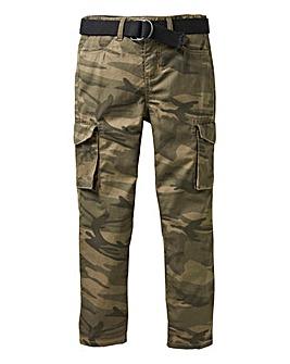 KD Boys Camo Print Cargo Trousers