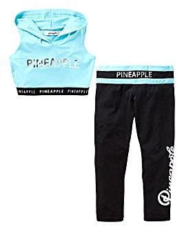 Pineapple Girls Top and Crop Legging Set