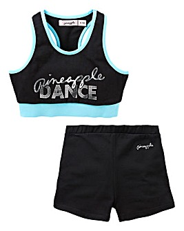 Pineapple Girls Crop Top and Shorts Set