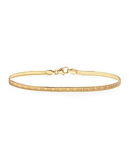 Simply Silver Diamond Cut Snake Bracelet