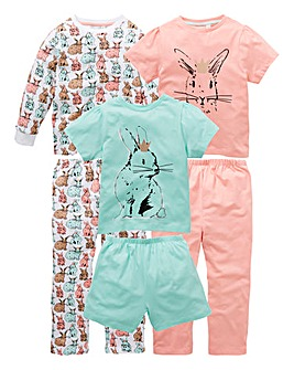 Younger Girls Pack of Three Pyjamas