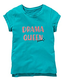 KD Girls Glitter Drama Queen T-Shirt