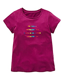 KD Girls Foil Slogan T-Shirt