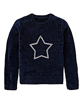 KD Girls Chenille Sequin Detail Jumper